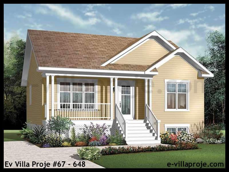 Ev Villa Proje #67 – 648, 1 katlı, 2 yatak odalı, 1 garajlı, 82 m2