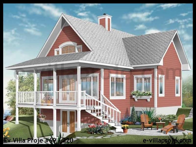 Ev Villa Proje #69 – 220, 2 katlı, 3 yatak odalı, 0 garajlı, 185 m2