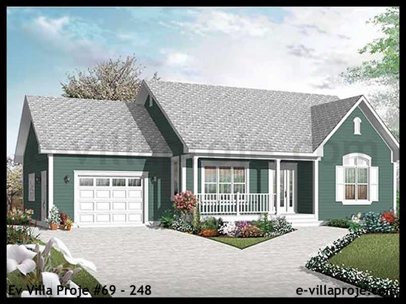 Ev Villa Proje #69 – 248, 1 katlı, 2 yatak odalı, 1 garajlı, 101 m2