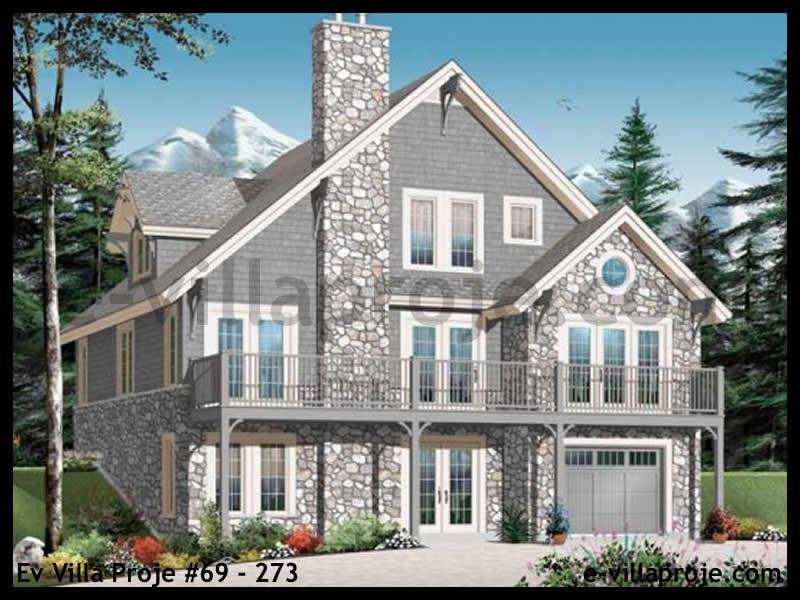 Ev Villa Proje #69 – 273, 3 katlı, 3 yatak odalı, 2 garajlı, 285 m2