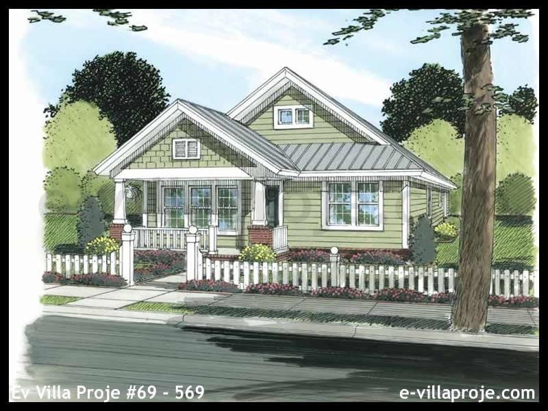 Ev Villa Proje #69 – 569, 1 katlı, 3 yatak odalı, 0 garajlı, 114 m2