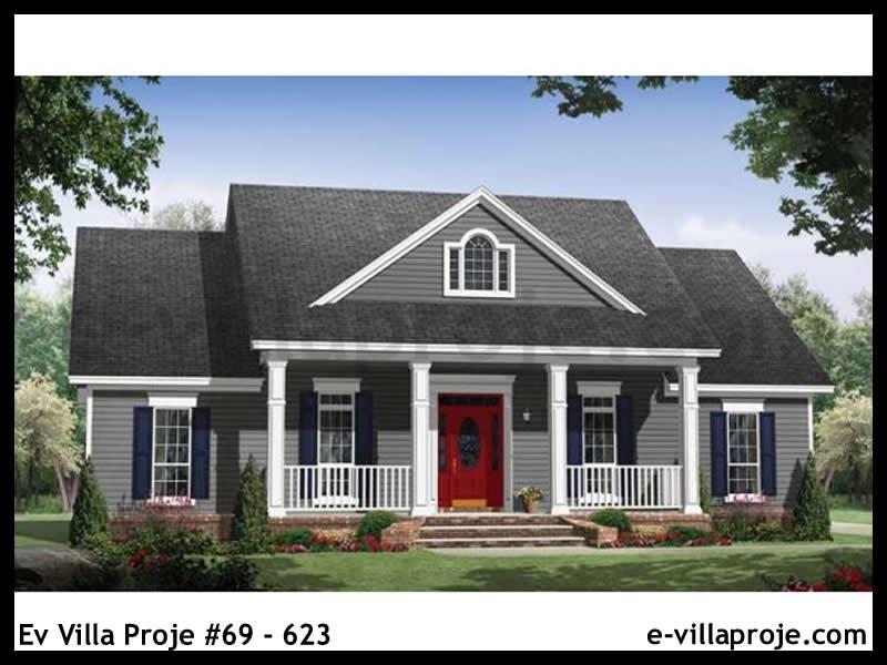 Ev Villa Proje #69 – 623, 1 katlı, 3 yatak odalı, 2 garajlı, 148 m2