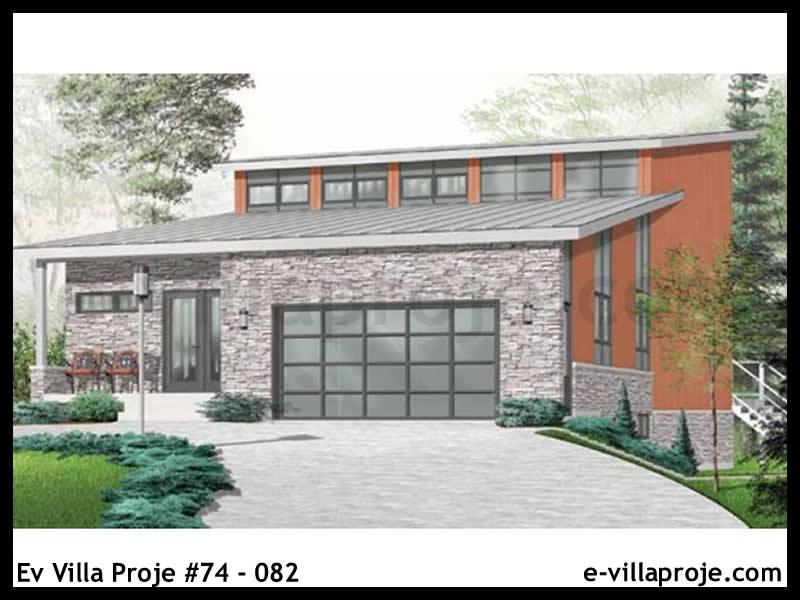 Ev Villa Proje #74 – 082, 3 katlı, 3 yatak odalı, 2 garajlı, 267 m2