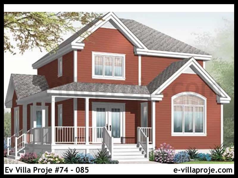 Ev Villa Proje #74 – 085, 2 katlı, 3 yatak odalı, 0 garajlı, 146 m2