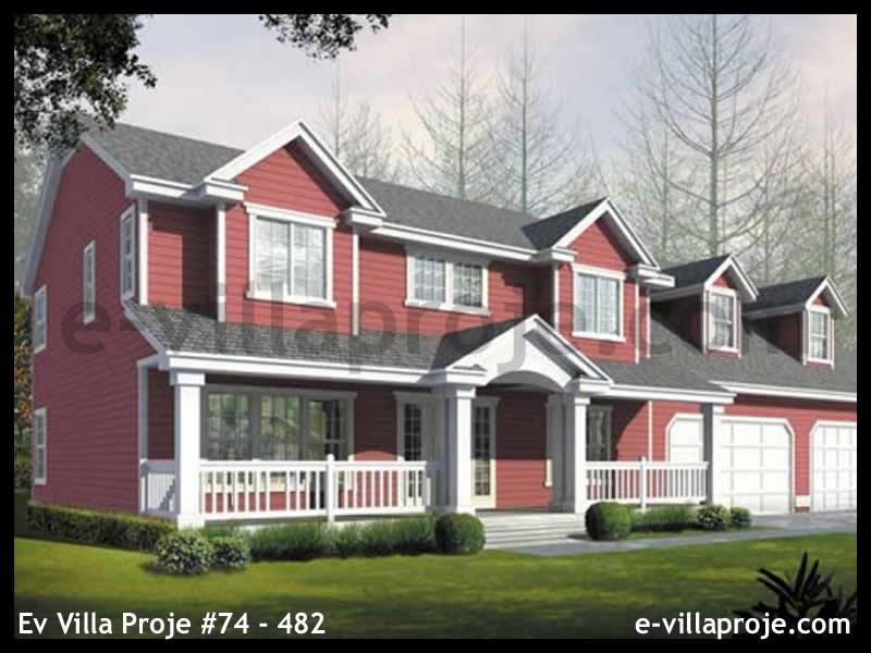 Ev Villa Proje #74 – 482, 2 katlı, 3 yatak odalı, 2 garajlı, 257 m2