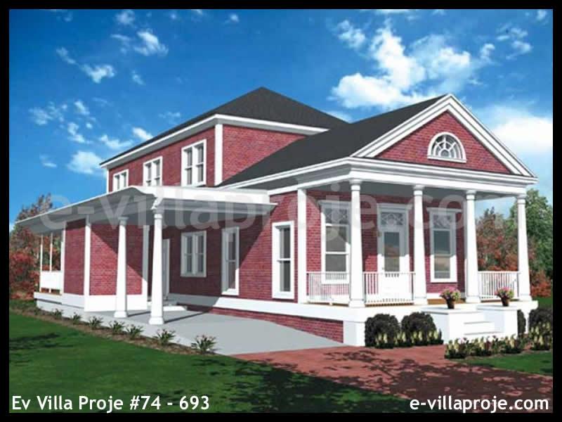 Ev Villa Proje #74 – 693, 2 katlı, 3 yatak odalı, 1 garajlı, 161 m2