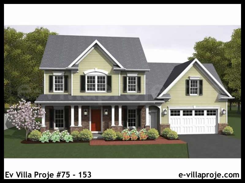 Ev Villa Proje #75 – 153, 2 katlı, 3 yatak odalı, 2 garajlı, 160 m2