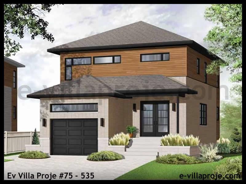 Ev Villa Proje #75 – 535, 2 katlı, 3 yatak odalı, 1 garajlı, 146 m2