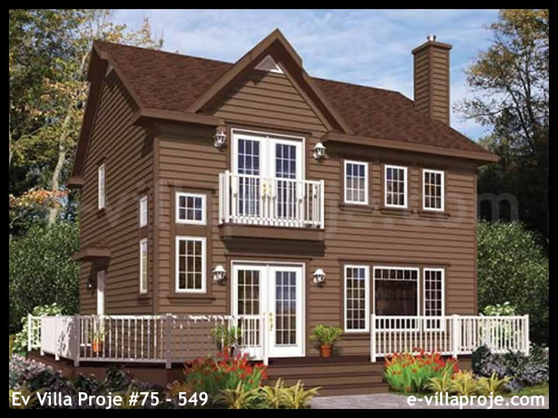 Ev Villa Proje #75 – 549, 2 katlı, 2 yatak odalı, 0 garajlı, 125 m2