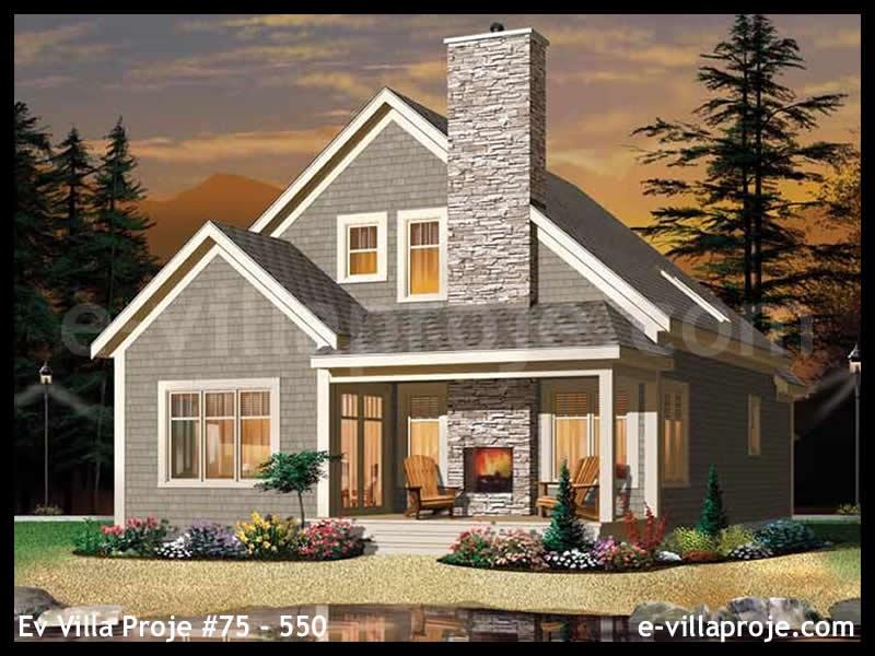 Ev Villa Proje #75 – 550, 2 katlı, 2 yatak odalı, 0 garajlı, 157 m2