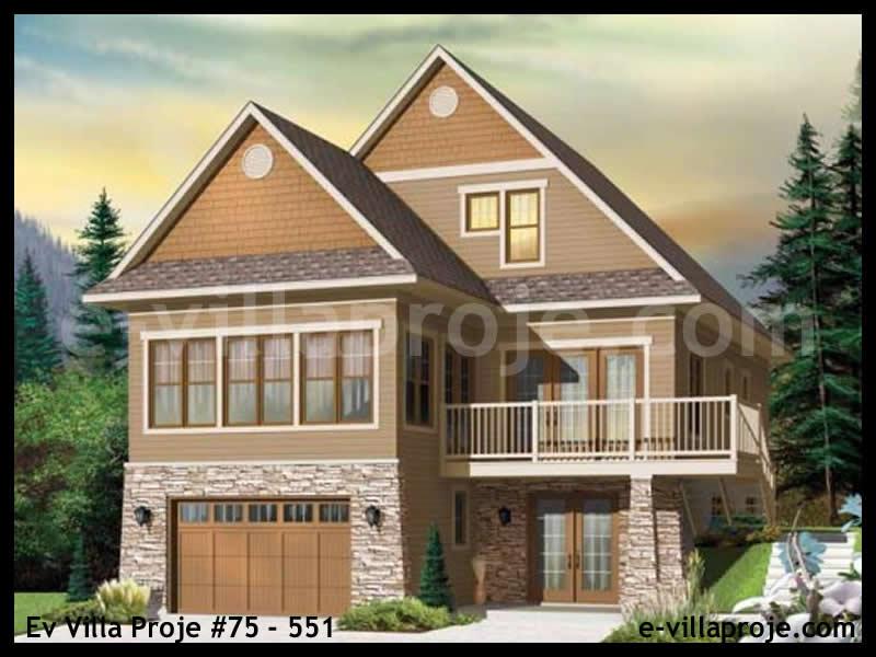 Ev Villa Proje #75 – 551, 3 katlı, 4 yatak odalı, 2 garajlı, 264 m2