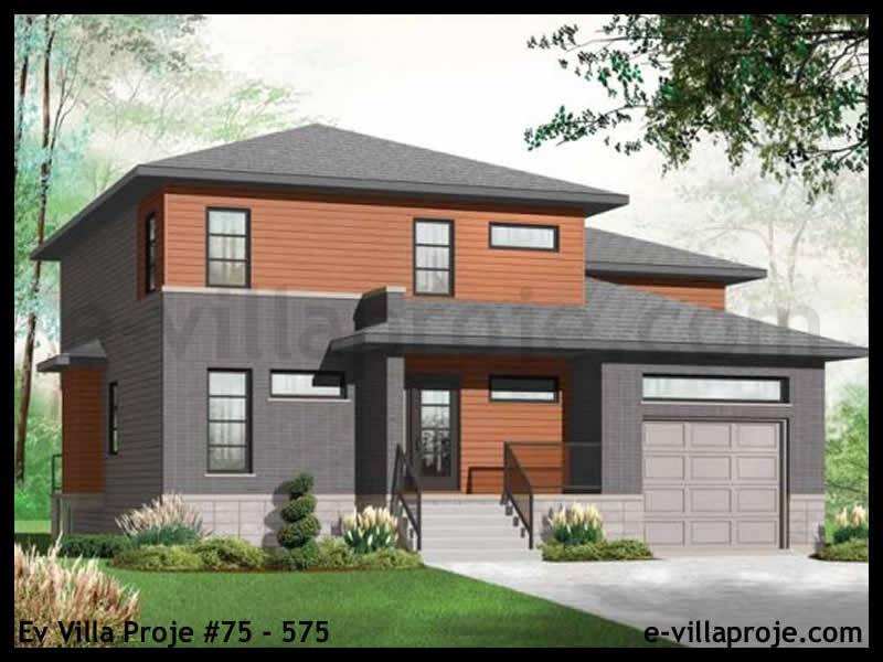 Ev Villa Proje #75 – 575, 2 katlı, 3 yatak odalı, 1 garajlı, 189 m2