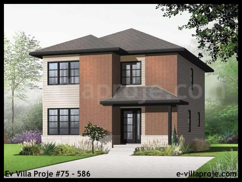 Ev Villa Proje #75 – 586, 2 katlı, 3 yatak odalı, 0 garajlı, 160 m2