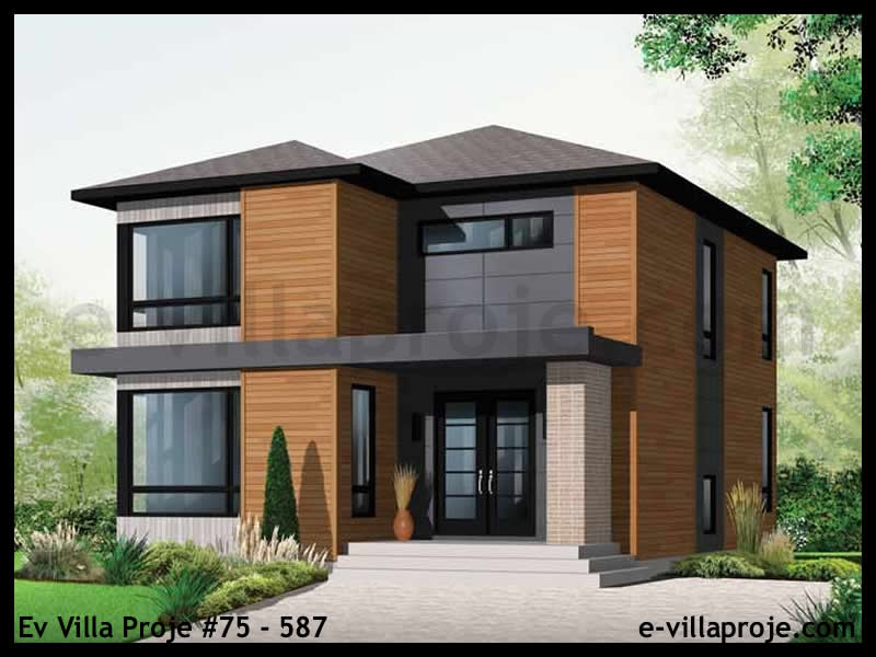 Ev Villa Proje #75 – 587, 2 katlı, 3 yatak odalı, 0 garajlı, 167 m2