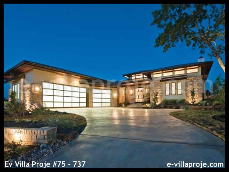 Ev Villa Proje #75 – 737, 2 katlı, 7 yatak odalı, 3 garajlı, 382 m2