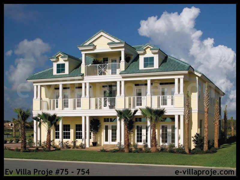 Ev Villa Proje #75 – 754, 2 katlı, 4 yatak odalı, 2 garajlı, 410 m2