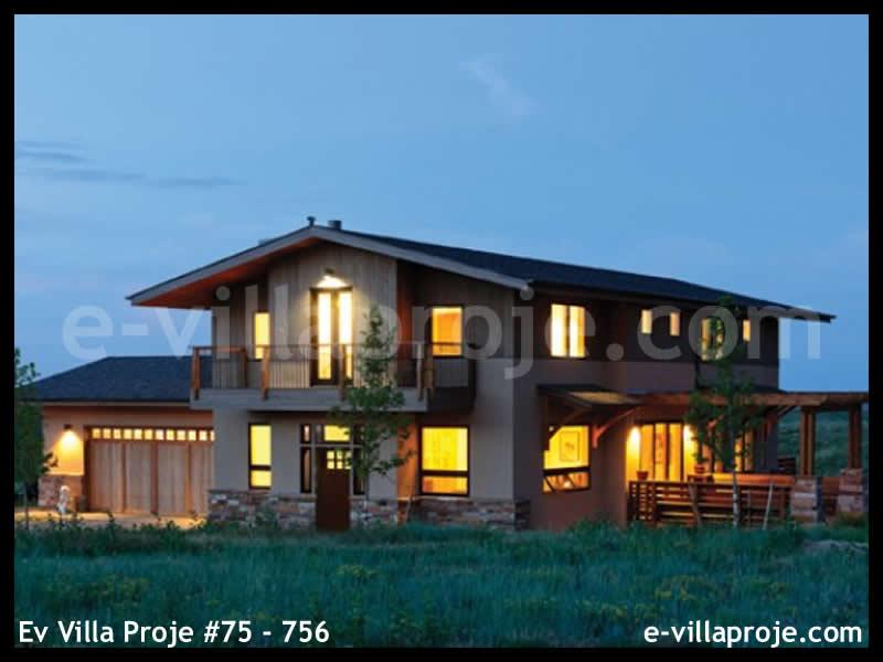 Ev Villa Proje #75 – 756, 2 katlı, 1 yatak odalı, 4 garajlı, 304 m2