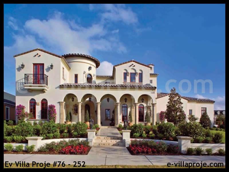 Ev Villa Proje #76 – 252, 2 katlı, 6 yatak odalı, 3 garajlı, 585 m2
