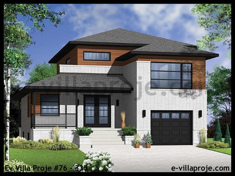 Ev Villa Proje #76 – 335, 2 katlı, 3 yatak odalı, 1 garajlı, 161 m2