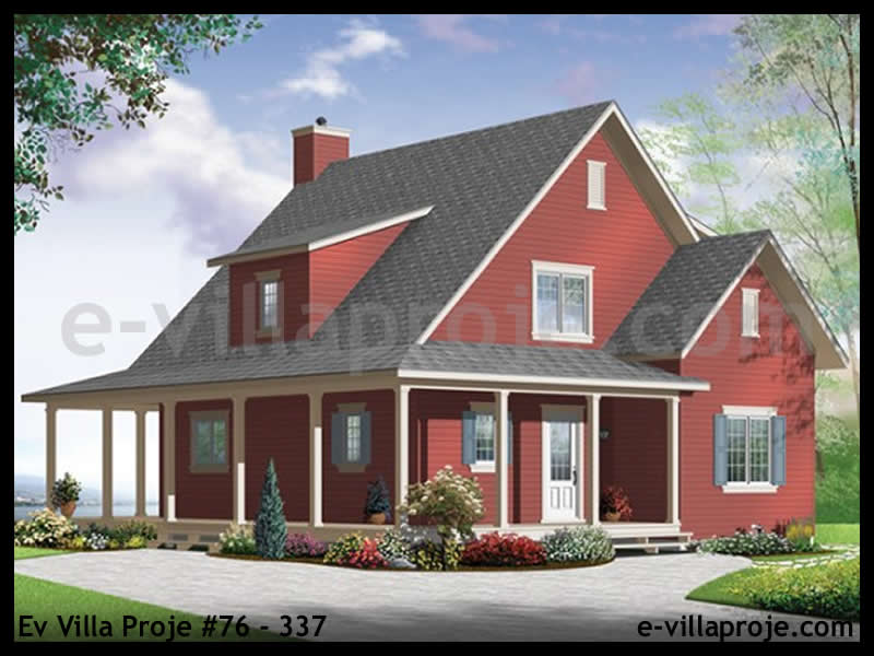 Ev Villa Proje #76 – 337, 2 katlı, 4 yatak odalı, 0 garajlı, 146 m2