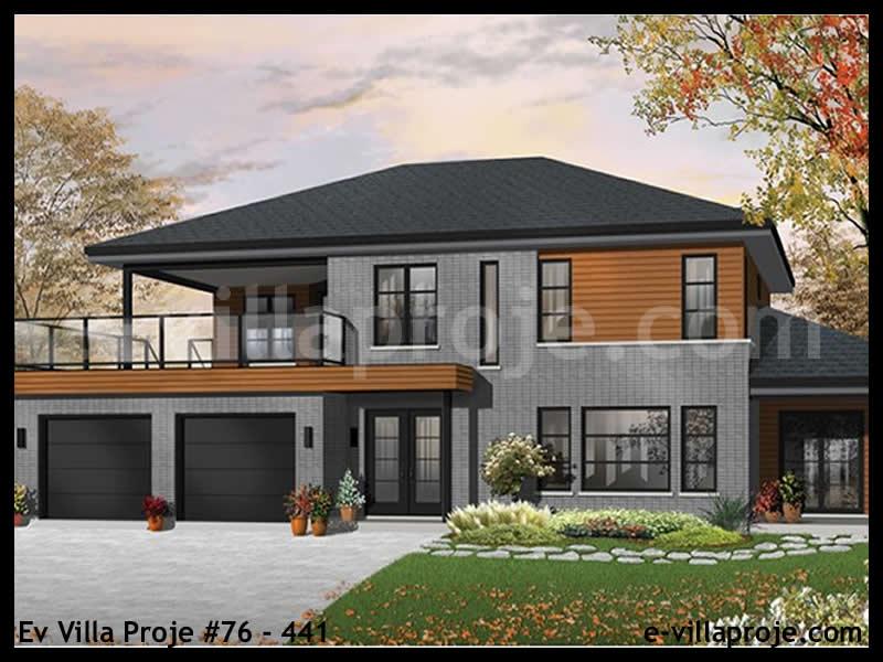 Ev Villa Proje #76 – 441, 2 katlı, 3 yatak odalı, 2 garajlı, 246 m2