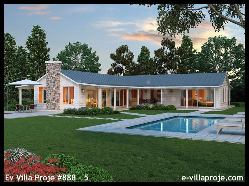 Ev Villa Proje #888 – 5, 1 katlı, 3 yatak odalı, 0 garajlı, 226 m2