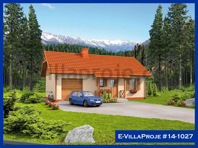 E-VillaProje #14-1027, 1 katlı, 2 yatak odalı, 1 garajlı, 57 m2