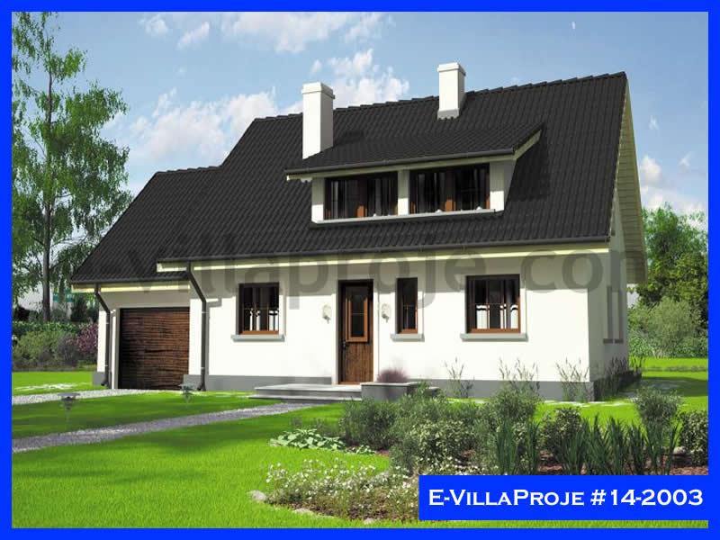 Ev Villa Proje #14 – 2003, 2 katlı, 3 yatak odalı, 1 garajlı, 127 m2
