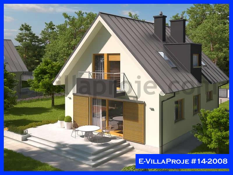 Ev Villa Proje #14 – 2008, 2 katlı, 3 yatak odalı, 1 garajlı, 129 m2