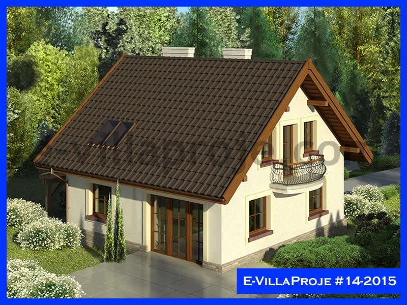 Ev Villa Proje #14 – 2015, 2 katlı, 4 yatak odalı, 1 garajlı, 165 m2