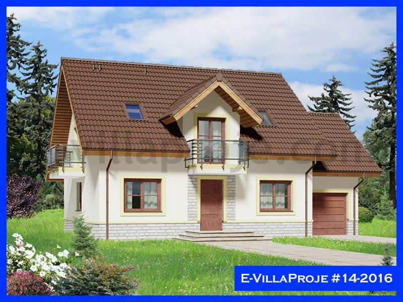 Ev Villa Proje #14 – 2016, 2 katlı, 4 yatak odalı, 1 garajlı, 258 m2