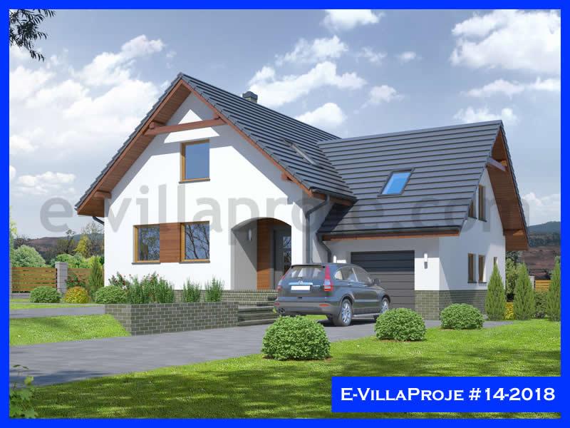 Ev Villa Proje #14 – 2018, 2 katlı, 4 yatak odalı, 1 garajlı, 259 m2