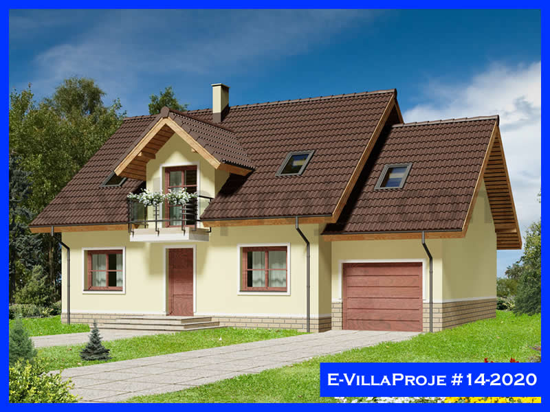 Ev Villa Proje #14 – 2020, 2 katlı, 4 yatak odalı, 1 garajlı, 217 m2