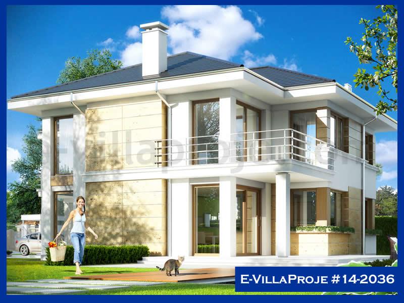 Ev Villa Proje #14 – 2036, 2 katlı, 4 yatak odalı, 2 garajlı, 295 m2