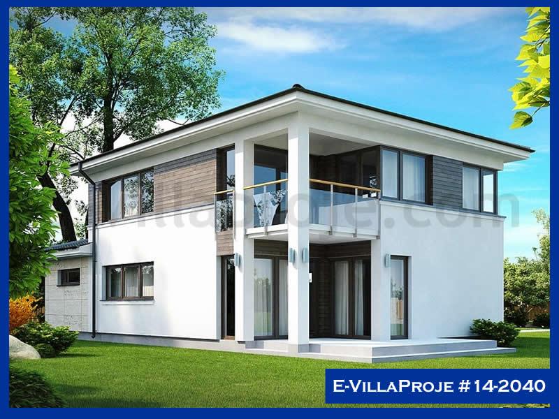 Ev Villa Proje #14 – 2040, 2 katlı, 4 yatak odalı, 1 garajlı, 156 m2