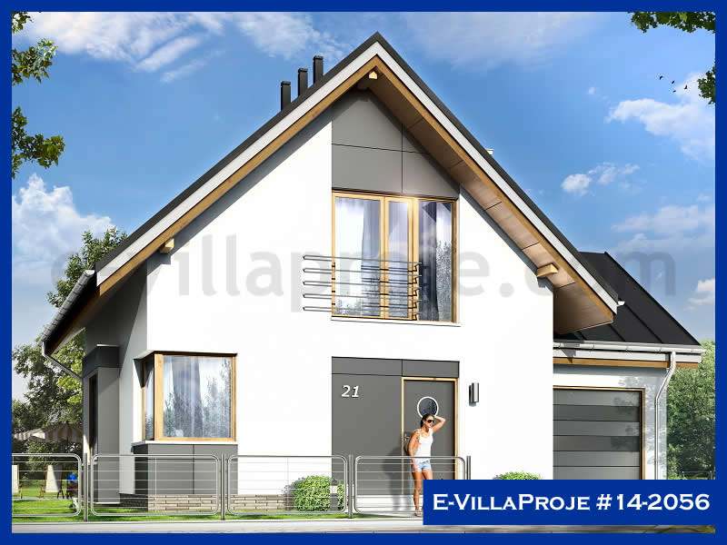 E-VillaProje #14-2056, 2 katlı, 3 yatak odalı, 1 garajlı, 140 m2
