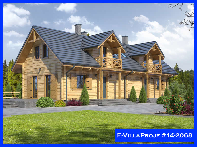 E-VillaProje #14-2068, 2 katlı, 2 yatak odalı, 0 garajlı, 118 m2