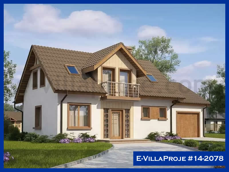 E-VillaProje #14-2078, 2 katlı, 4 yatak odalı, 1 garajlı, 184 m2