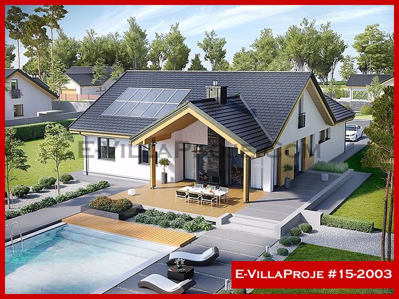 E-VillaProje #15-2003, 2 katlı, 3 yatak odalı, 2 garajlı, 215 m2