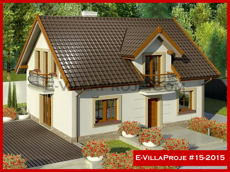 E-VillaProje #15-2015, 2 katlı, 3 yatak odalı, 0 garajlı, 180 m2