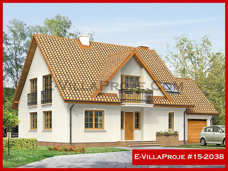 Ev Villa Proje #15 – 2038, 2 katlı, 4 yatak odalı, 1 garajlı, 235 m2