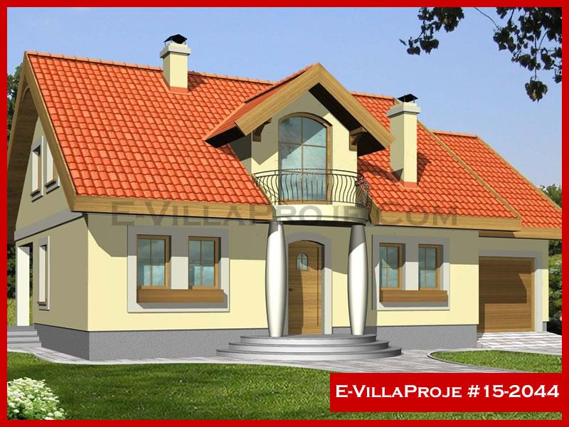 Ev Villa Proje #15 – 2044, 2 katlı, 4 yatak odalı, 2 garajlı, 240 m2