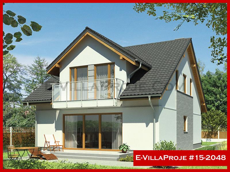 Ev Villa Proje #15 – 2048, 2 katlı, 4 yatak odalı, 1 garajlı, 216 m2