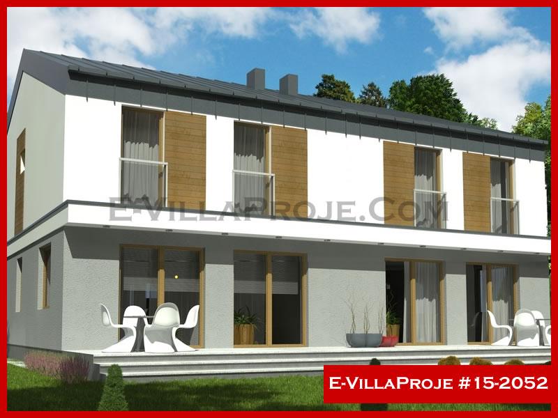 Ev Villa Proje #15 – 2052, 2 katlı, 3 yatak odalı, 1 garajlı, 145 m2