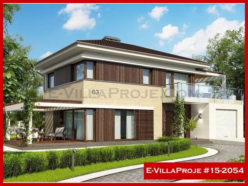 Ev Villa Proje #15 – 2054, 2 katlı, 4 yatak odalı, 1 garajlı, 140 m2