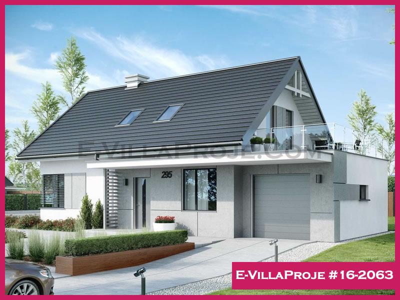 Ev Villa Proje #16 – 2063, 2 katlı, 4 yatak odalı, 1 garajlı, 190 m2