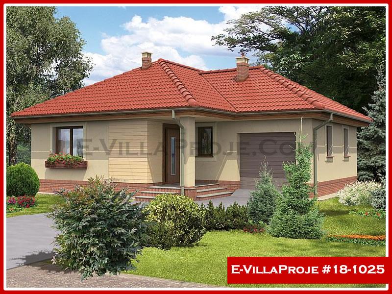 Ev Villa Proje #18 – 1025, 1 katlı, 2 yatak odalı, 1 garajlı, 100 m2