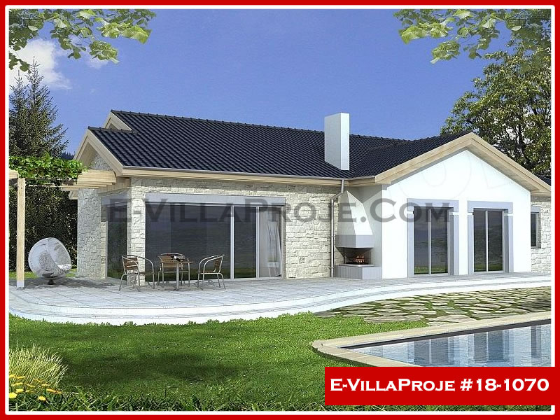Ev Villa Proje #18 – 1070, 1 katlı, 3 yatak odalı, 2 garajlı, 177 m2