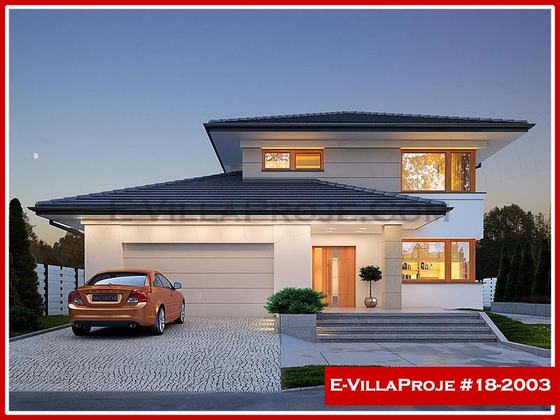 Ev Villa Proje #18 – 2003, 2 katlı, 4 yatak odalı, 2 garajlı, 199 m2
