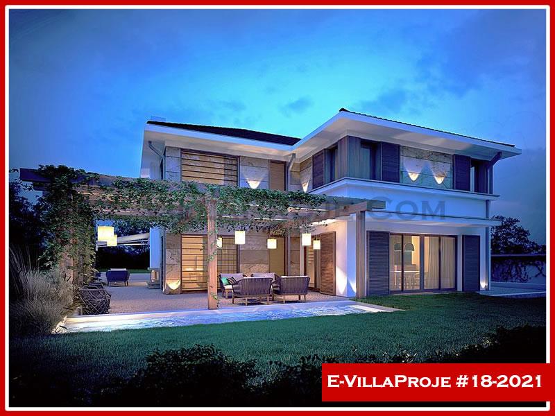 Ev Villa Proje #18 – 2021, 2 katlı, 3 yatak odalı, 2 garajlı, 391 m2
